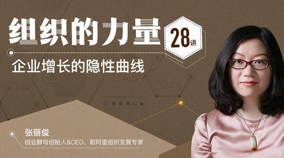 张丽俊《组织的力量28讲》企业增长的隐性曲线