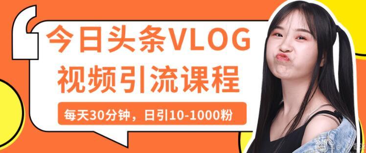今日头条VLOG视频引流技术