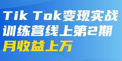 龟课-TikTok变现实战训练营 第2期 月收益上万不成问题